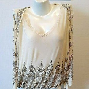 We The Free People BOHO Shirt Top Large